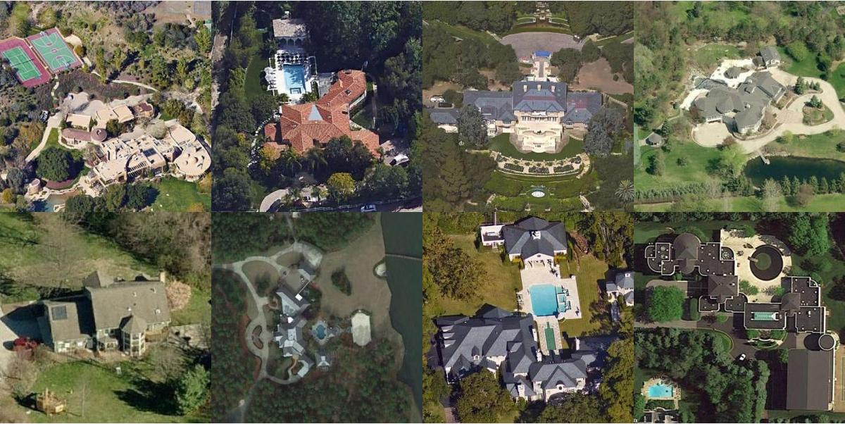 Amazing Satellite Imagery Celebrity Homes And More