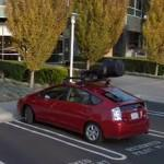 Street View car parked in Googleplex
