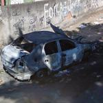 Burned car in Rio