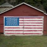 Patriotic garage door