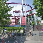 Biking past Tivoli Gardens