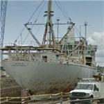 SS Lincoln in drydock
