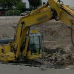 Excavator with Breaker