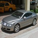 Bentley Continental in front of Ritz Carlton