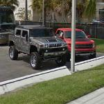 Hummer H2 and Ford Raptor
