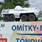 Armored vehicle on a display