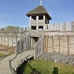 Biskupin Iron Age fort replica - the entrance and bridge