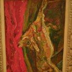 """Calf and Red Curtain "" by Chaim Soutine"