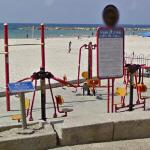 Beach exercise equipment