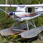Floatplane on a trailer