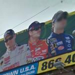 Dale Earnhardt, Jr., Jeff Gordon and Jimmie Johnson