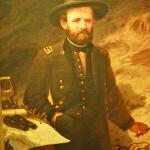 Painting of Ulysses S. Grant with a map