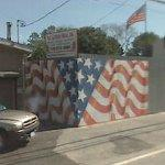 American flag mural by Scott LoBaido