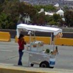 Freeway Food Stand in Mexico