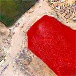 Frightening Blood-red Reservoir in Baghdad