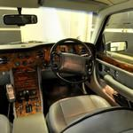 Inside a Bentley Birkin, steering side