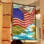 Stained glass Stars and Stripes