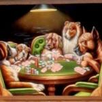 Dogs Playing Poker velvet painting