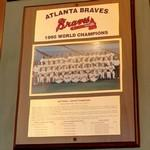 1995 World Series Champions plaque: Atlanta Braves