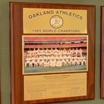 1989 World Series Champions plaque: Oakland Athletics