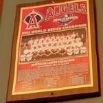2002 World Series Champions plaque: Anaheim Angels