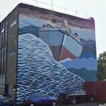 Historic rescue boat mural