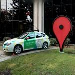 Street View car and placemark