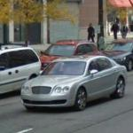 Bentley Rolls Through Detroit