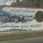 "Welcome to Kingsland ""The city of royal treatment"""
