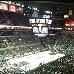 Inside the AT&T Center. San Antonio Spurs home court