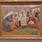 Women outside the Church at Ruokolahti by Albert Edelfelt