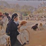 The Luxembourg Gardens, Paris by Albert Edelfelt