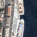 Cruise ships docked in Messina, Sicily