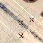Fighter formation on takeoff roll from Jordanian airbase (1 of 2)