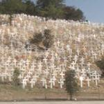'Crosses of Lafayette' - Memorial to the Americans killed in Iraq