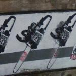 Chain saw graffiti