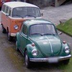 Volkswagen T2 van and Beetle