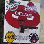 NBA basketball backboard