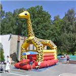 Bouncy house giraffe