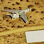 F-8 Carcass in desert