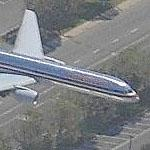 Airplane - American Airlines enroute to John Wayne Orange County Airport