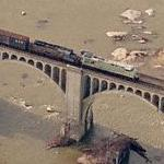 Train in Motion over the James River