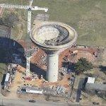 Large water tower under construction