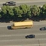 Schoolbus on highway