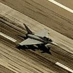 Eurofighter Typhoon landing at Davis-Monthan AFB